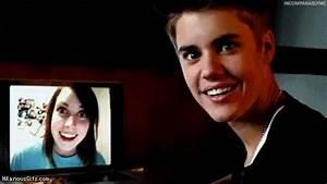 Overly attached Justin Bieber | HilariousGifs.com