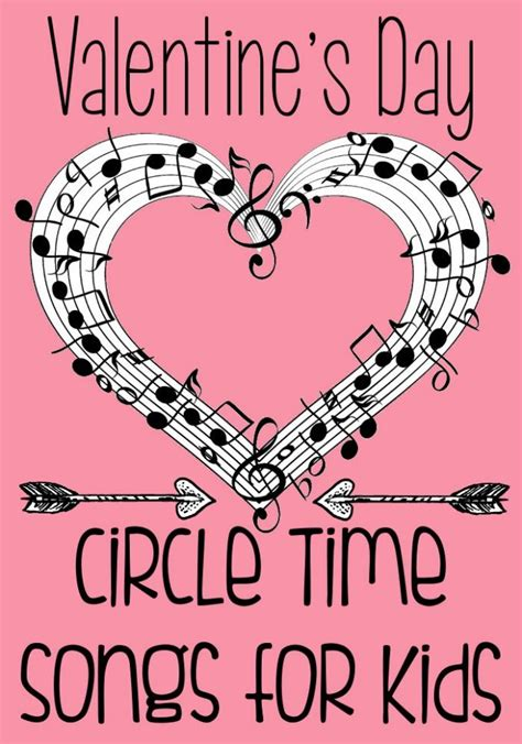 valentines day songs for circle time 382 | valentines songs for preschool pink pin