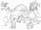 Cave Coloring Bear Bears Mountain Animals Divyajanani Printable Pages sketch template