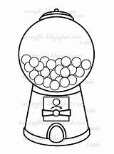 Coloring Gum Pages Gumball Machine Printable Getcolorings sketch template