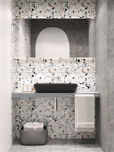 beautiful terrazzo tiles installed