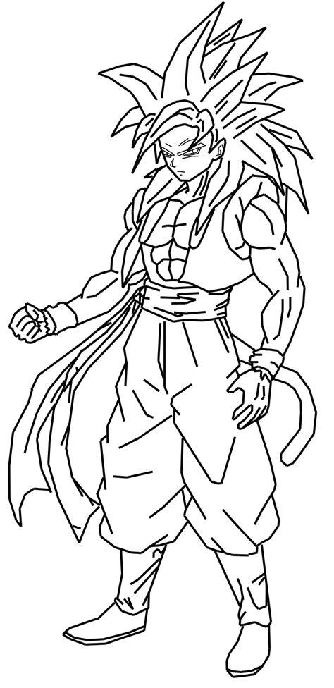 super saiyan  gogeta coloring pages