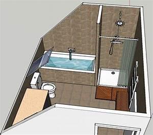 salle de bain sous pente 5m2 kirafes With salle de bain sous pente 5m2