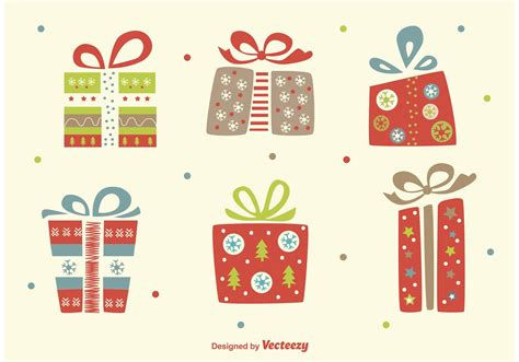 christmas flat vector gifts download free vector art
