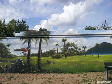 peinture pour mur de chambre paysage mur de jardin