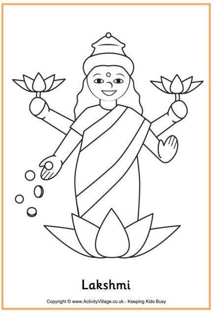 lakshmi colouring page  images diwali rangoli