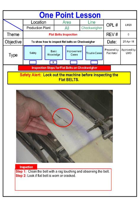 point lesson flat belts inspection autonomous