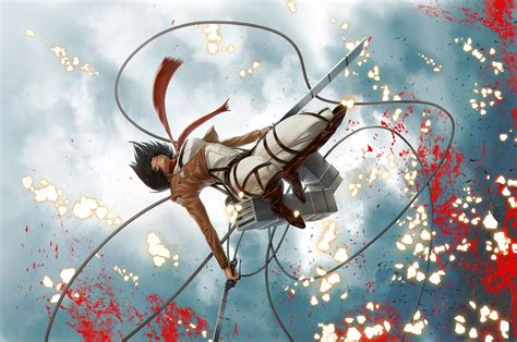 shingeki  kyojin mikasa ackerman wallpapers hd