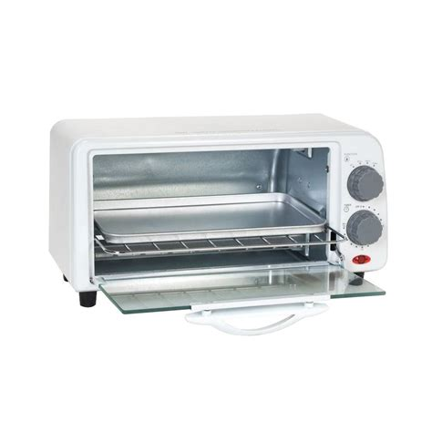 White Digital Toaster Oven by Hamilton Black Toaster Oven 31100 The Home Depot