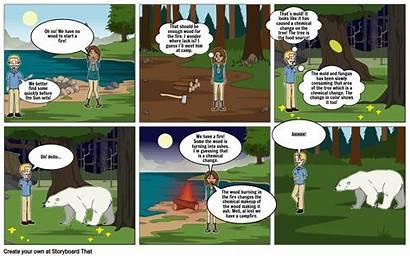 Comic Strip Change Chemical Storyboard