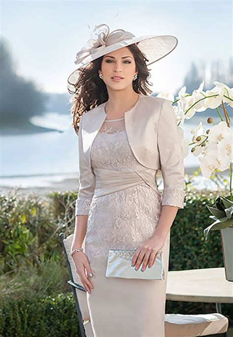 Ispirato Knee Length Fitted Dress And Bolero Jacket 065