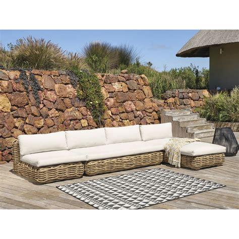 divanetto in rattan divanetto da giardino 3 posti in rattan con cuscini 233 cru