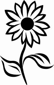 Black And White Sunflower Drawing | Clipart Panda - Free ...