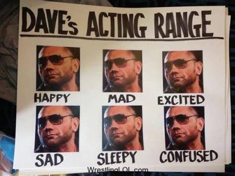 Acting Memes - dave batista acting acting