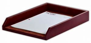 A3005 mocha leather legal letter tray for Legal letter tray
