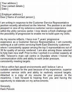customer service representative covering letter sample With examples of cover letters for customer service representatives