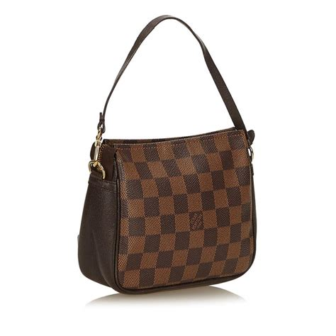 vintage authentic louis vuitton brown croisette pm france  dust bag small  stdibs