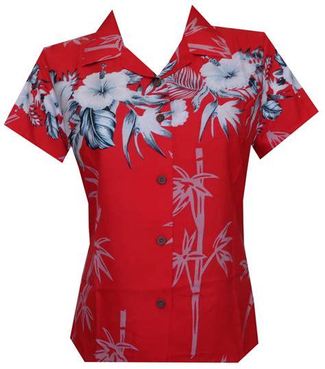 hawaiian print blouses hawaiian shirt bamboo tree print aloha top