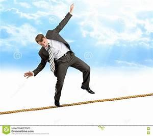 Businessman Walk Over Cliff Gap Mountain Business Man ...