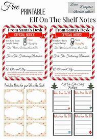 free printable elf on shelf notes