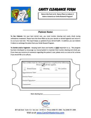 printable medical clearance form  dental treatment