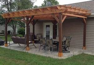 Covered Pergola Plans 12x24 U0026 39  Outside Patio Wood Design