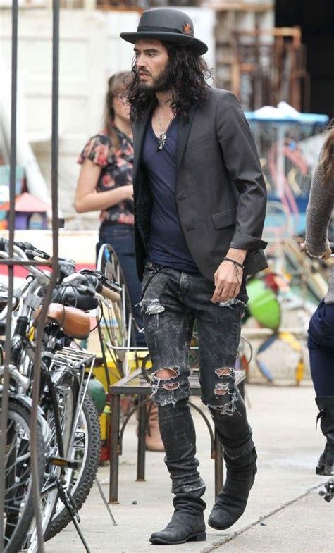 russell brand jeans russell brand en neil barret jeans style pinterest