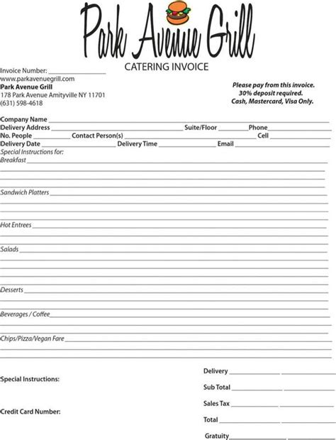 Download Catering Invoice Template for Free | Page 2