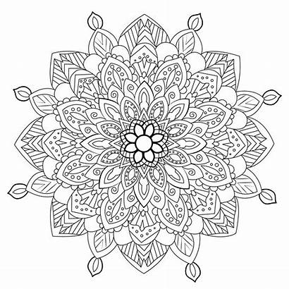 Mandala Coloring Mandalas Zen Pages Adults Difficult