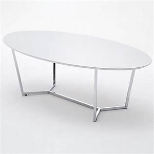 banham coffee table oval in high gloss white with chrome With white and chrome coffee table