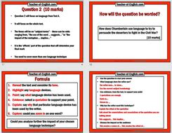 eduqas gcse english paper  section  exam prep teaching resources