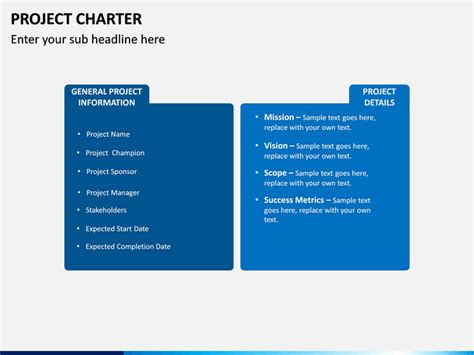 project charter powerpoint template sketchbubble