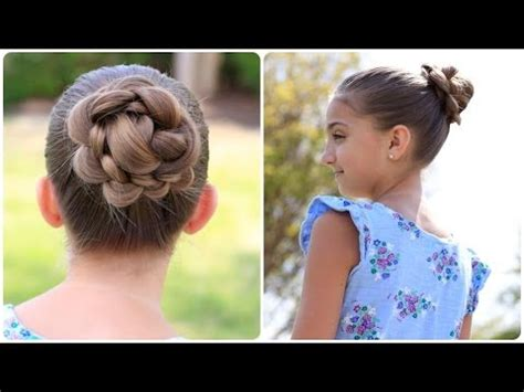 create   flower bun cute updos youtube