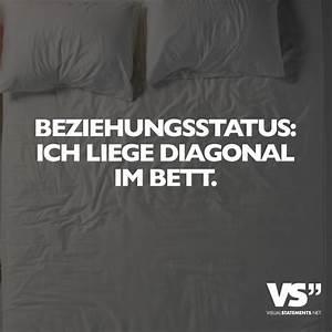 Liege Im Bett : beziehungsstatus ich liege diagonal im bett visual statements ~ Frokenaadalensverden.com Haus und Dekorationen