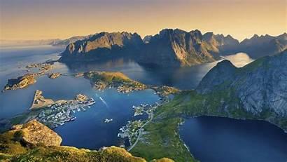 Norway Lofoten Islands Nature Landscape Px Wallpapers