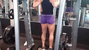 Erin Stern Does Calf Raise On The Smith Machine