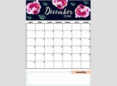 December 2018 Calendar Cute CALENDAR PRINTABLE WITH