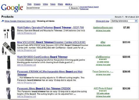 From The Isn't It Ironic Dept: Google Product Search's ...