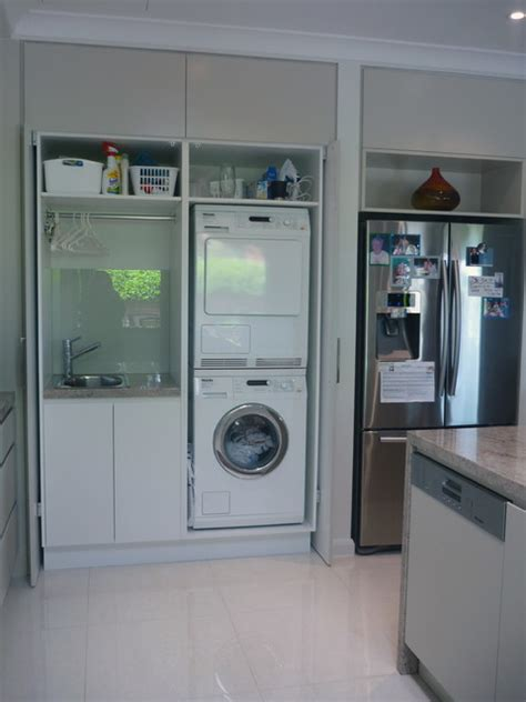 Compact Laundry Design Photo Gallery by Sandringham Residence Modern Laundry Room