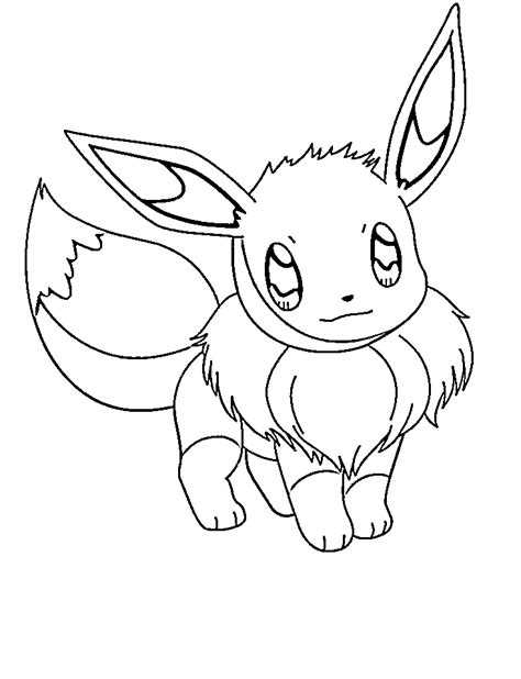 coloring pages saved eevee coloring pages  simple