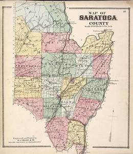 Map Of Saratoga County