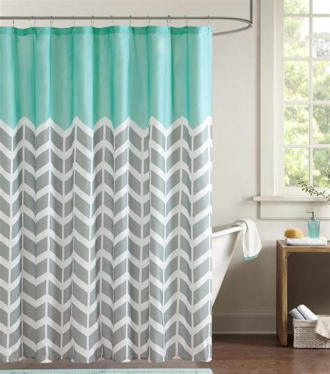 Shower Curtain Gray by Chevron Shower Curtain Zigzag Stripes Geometric Print Bath