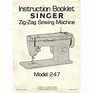 Instruction Manual  Singer 247   Sewing Parts Online