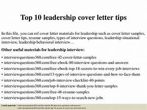 Top 10 Leadership Cover Letter Tips
