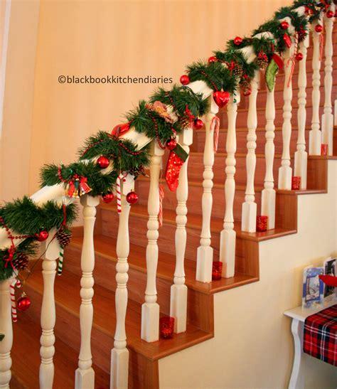 christmas time banisters holidays  christmas time