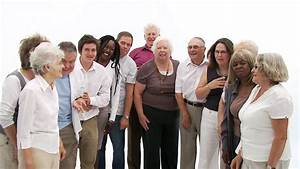 Group Of Senior People Coming Together To Form A Happy ...