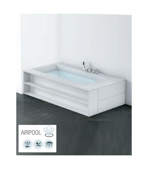 corian bianco vasca sinistra airpool in corian bianco opaco