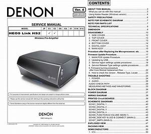 Denon Heos Link Hs2 Pre Amplifier Service Manual
