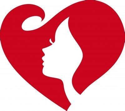 Love Heart Shape Face Woman Silhouette