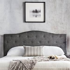 Tete De Lit Tissu : tete de lit grise design ~ Premium-room.com Idées de Décoration